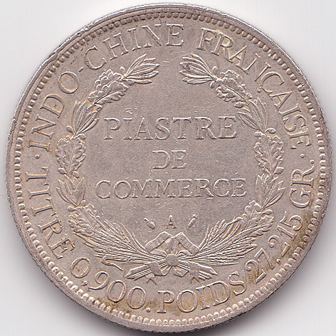 French Indochina 1 Piastre 1885 1895